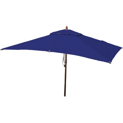 6.5 x 10 Rectangular Market Umbrella Fabric: Ocean Blue
