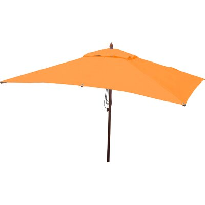 6.5 x 10 Rectangular Market Umbrella Fabric: Orange
