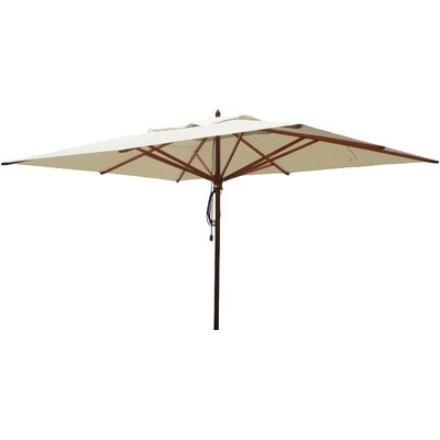 10 x 13 Rectangular Market Umbrella Fabric: Natural
