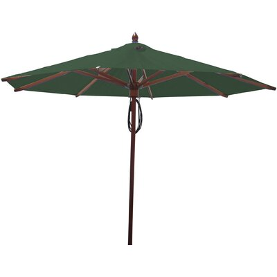 9 Market Umbrella Fabric: Forest Green