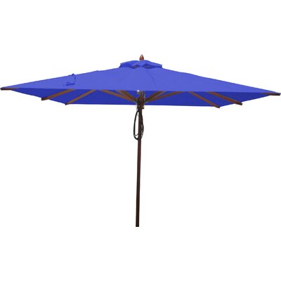 8 Square Market Umbrella Fabric: Ocean Blue