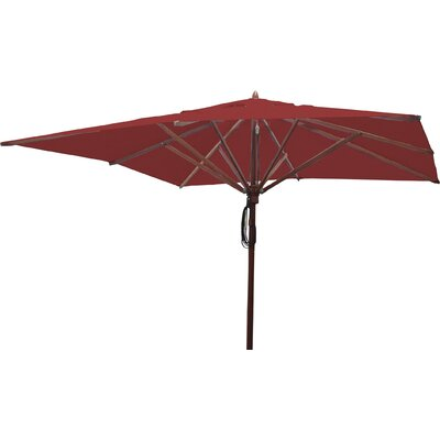 10 Square Market Umbrella Fabric: Jockey Red
