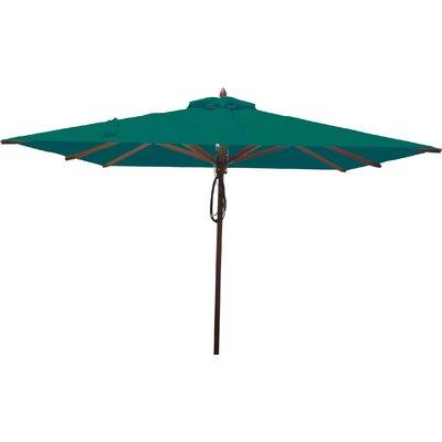 8 Square Market Umbrella Fabric: Forest Green