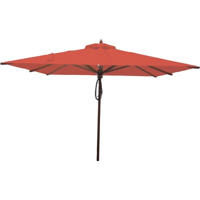 8 Square Market Umbrella Fabric: Jockey Red
