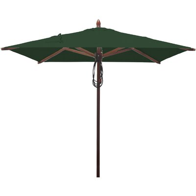 6.5 Square Market Umbrella Fabric: Forest Green