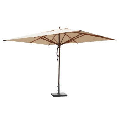 10' x 13' Mahogany Rectangular Market Umbrella Fabric: Natural