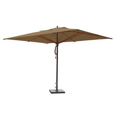10 x 13 Mahogany Rectangular Market Umbrella Fabric: Beige