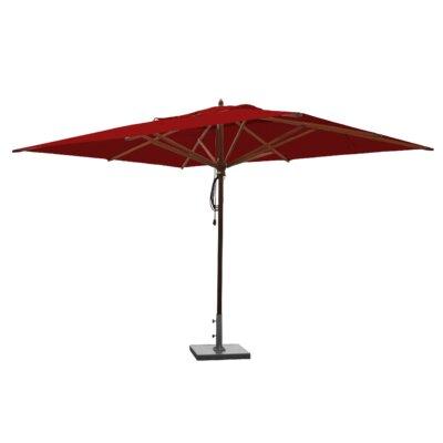 10 x 13 Mahogany Rectangular Market Umbrella Fabric: Jockey Red