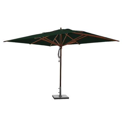 10 x 13 Mahogany Rectangular Market Umbrella Fabric: Forest Green
