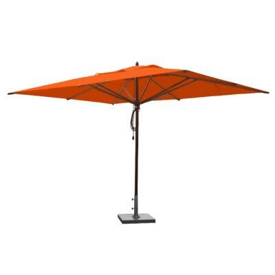 10 x 13 Mahogany Rectangular Market Umbrella Fabric: Orange