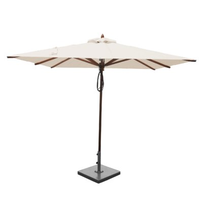 8 Smithshire Mahogany Square Market Umbrella Fabric: Natural