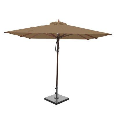 8 Smithshire Mahogany Square Market Umbrella Fabric: Beige