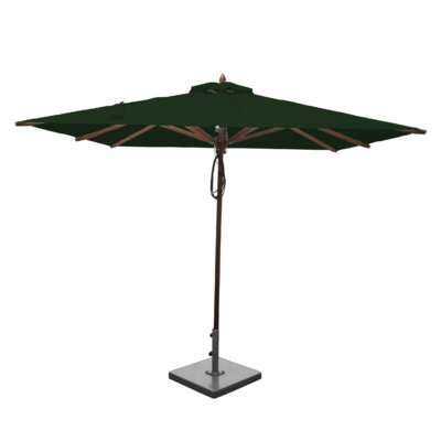 8 Smithshire Mahogany Square Market Umbrella Fabric: Forest Green