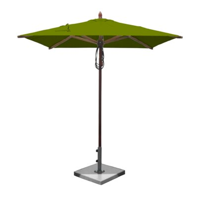 6.5 Smith Mahogany Square Market Umbrella Fabric: Olive Green