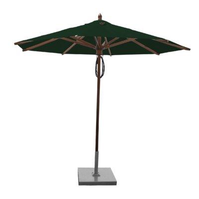9 Samantha Mahogany Market Umbrella Fabric: Forest Green