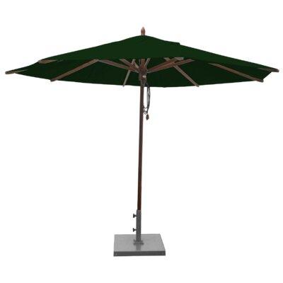 Shepley Mahogany Market Umbrella Fabric: Forest Green