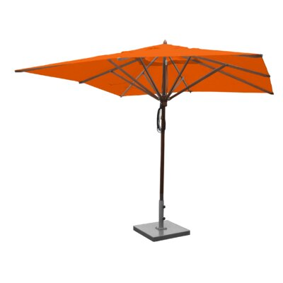 Sabanc 10 Simon Mahogany Square Market Umbrella Fabric: Orange