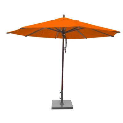 Shepley Mahogany Market Umbrella Fabric: Orange