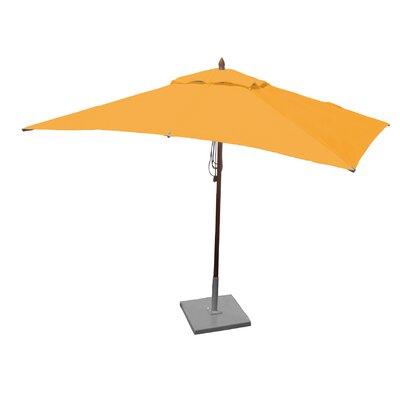 10 x 6.5 Sharon Mahogany Rectangle Market Umbrella Fabric: Yellow