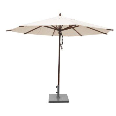 Shepley Mahogany Market Umbrella Fabric: Natural