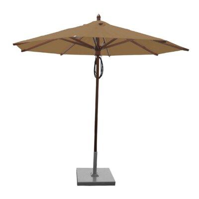 9 Samantha Mahogany Market Umbrella Fabric: Beige