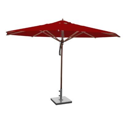 13 Samuel Mahogany Market Umbrella Fabric: Jockey Red
