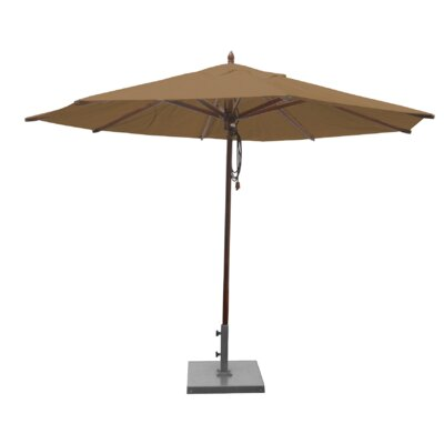 Shepley Mahogany Market Umbrella Fabric: Beige