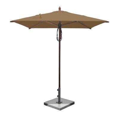 6.5 Smith Mahogany Square Market Umbrella Fabric: Beige