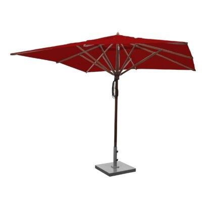 Sabanc 10 Simon Mahogany Square Market Umbrella Fabric: Jockey Red
