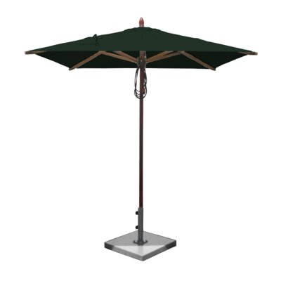 6.5 Smith Mahogany Square Market Umbrella Fabric: Forest Green