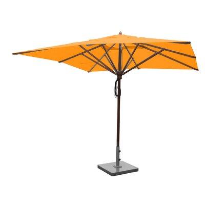 Sabanc 10 Simon Mahogany Square Market Umbrella Fabric: Yellow