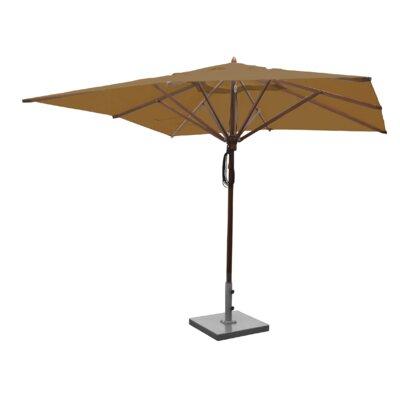 Sabanc 10 Simon Mahogany Square Market Umbrella Fabric: Beige
