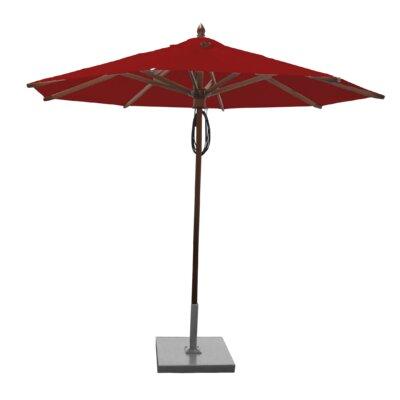 9 Samantha Mahogany Market Umbrella Fabric: Jockey Red
