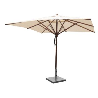 Sabanc 10 Simon Mahogany Square Market Umbrella Fabric: Natural