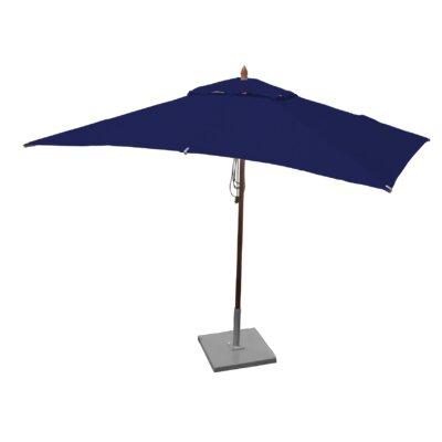 10 x 6.5 Sharon Mahogany Rectangle Market Umbrella Fabric: Ocean Blue