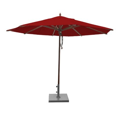 Shepley Mahogany Market Umbrella Fabric: Jockey Red