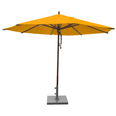 Shepley Mahogany Market Umbrella Fabric: Yellow