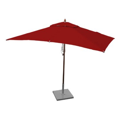 10 x 6.5 Sharon Mahogany Rectangle Market Umbrella Fabric: Jockey Red