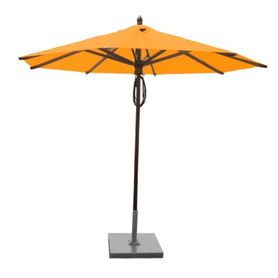 9 Samantha Mahogany Market Umbrella Fabric: Yellow