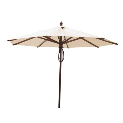 9 Samantha Mahogany Market Umbrella Fabric: Natural