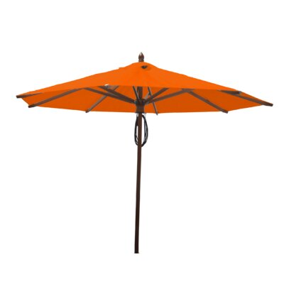 9 Samantha Mahogany Market Umbrella Fabric: Orange