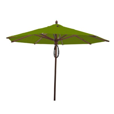 9 Samantha Mahogany Market Umbrella Fabric: Olive Green