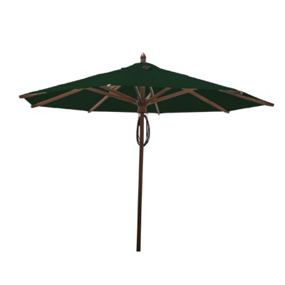 9 Samantha Mahogany Market Umbrella Fabric: Forest Green