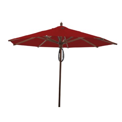 9 Samantha Mahogany Market Umbrella Fabric: Jockey Red