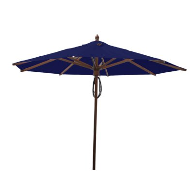 9 Samantha Mahogany Market Umbrella Fabric: Ocean Blue