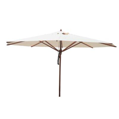 13 Samuel Mahogany Market Umbrella Fabric: Natural