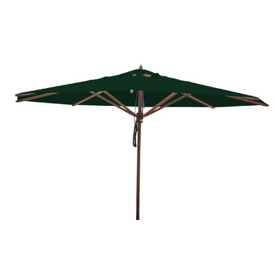 13 Samuel Mahogany Market Umbrella Fabric: Forest Green