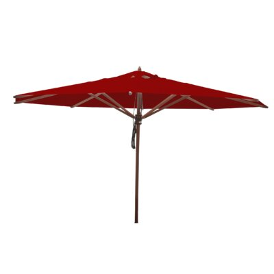 13 Samuel Mahogany Market Umbrella Fabric: Jockey Red