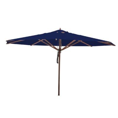13 Samuel Mahogany Market Umbrella Fabric: Ocean Blue