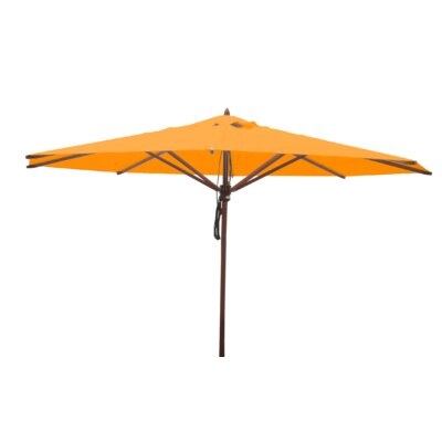13 Samuel Mahogany Market Umbrella Fabric: Yellow